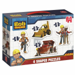 Bob The Builder 4 SHAPED JIGSAW PUZZLES - NEW
